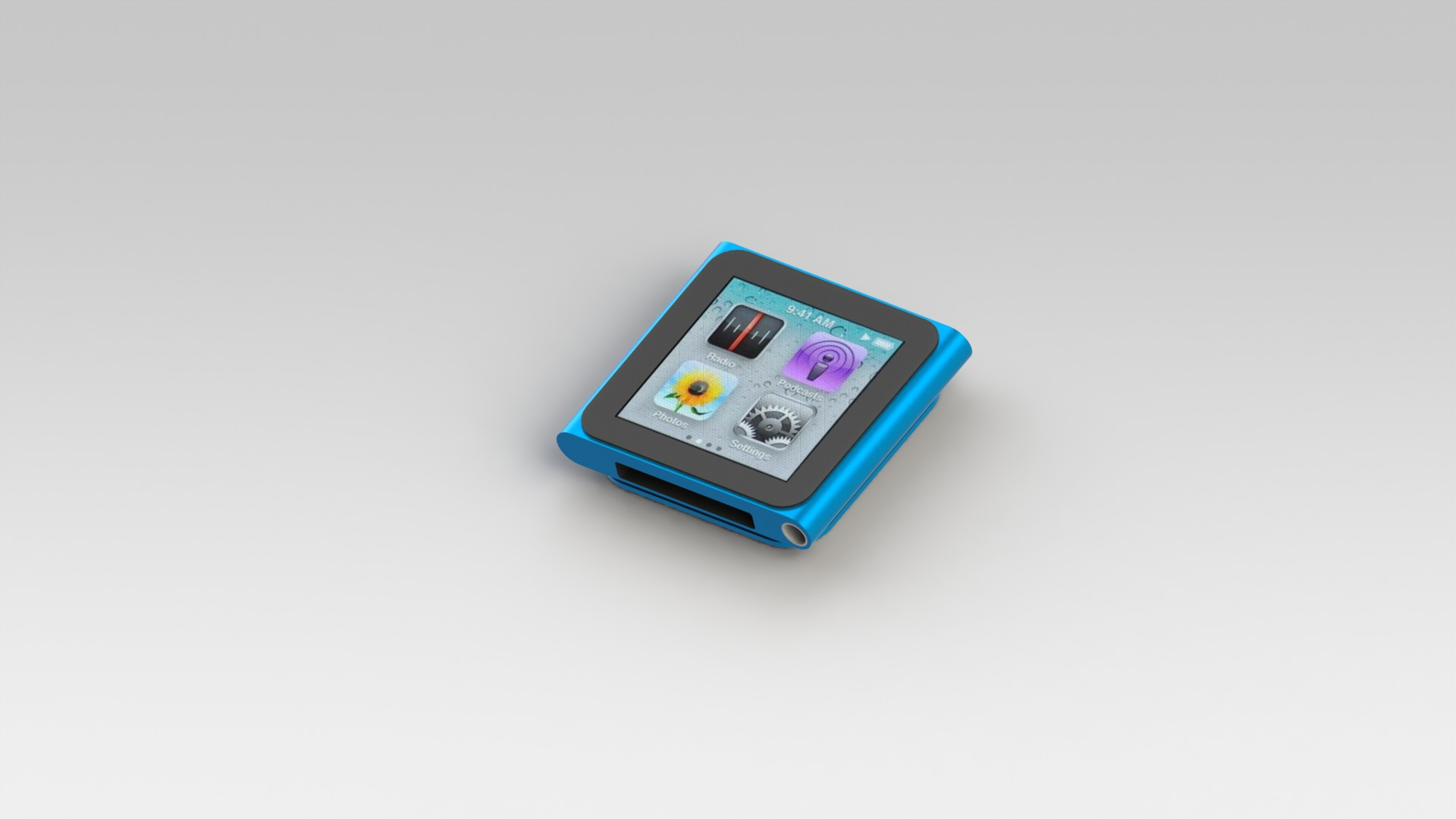 iPod nano 6th generation rendered in SolidWorks PhotoView 360